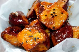 Candied Sweet Potatoes With Black Sesame