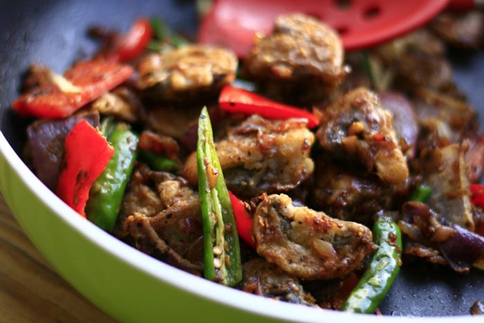 Mushroom and Pepper Chilli